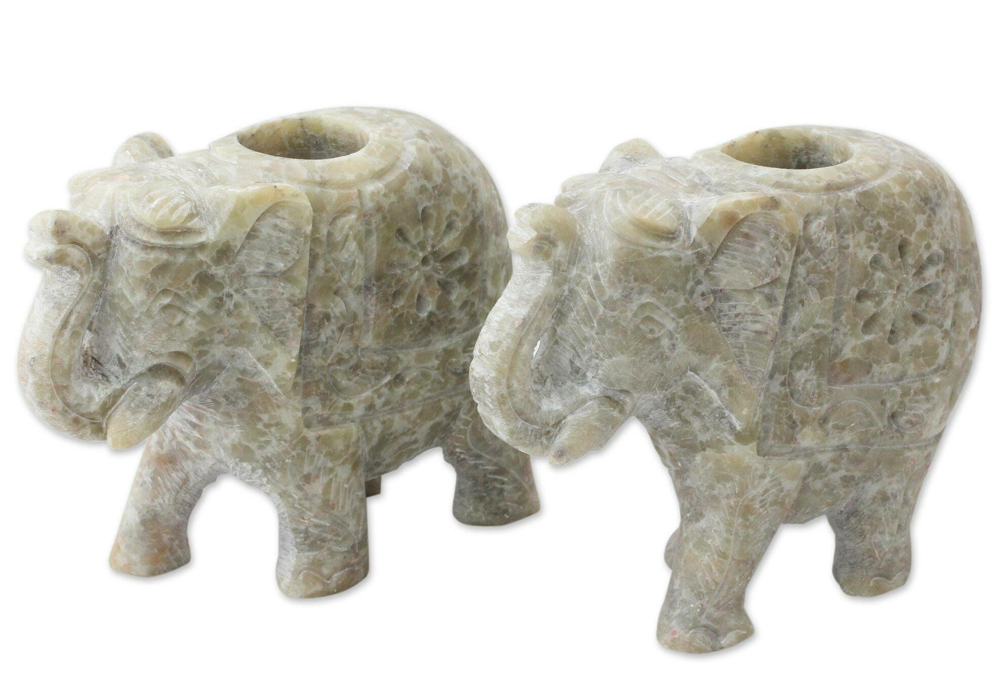 World Menagerie Royal Charm Small Stone Candlestick Wayfair
