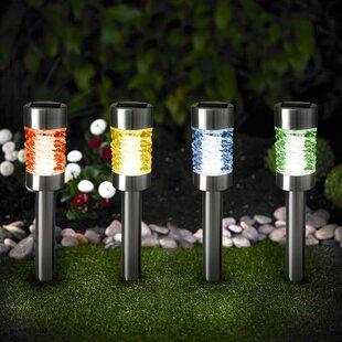 Myfuncorp Solar Smart Creations 1-Light Pathway Light (Set of 4)