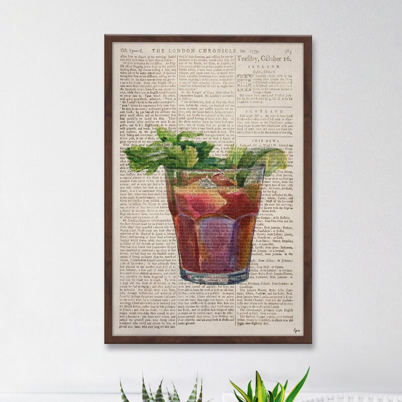 Latitude Run Bloody Mary 2 Framed Watercolor Painting Print