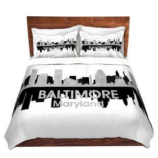 City IV Baltimore Maryland Duvet Set by East Urban Home