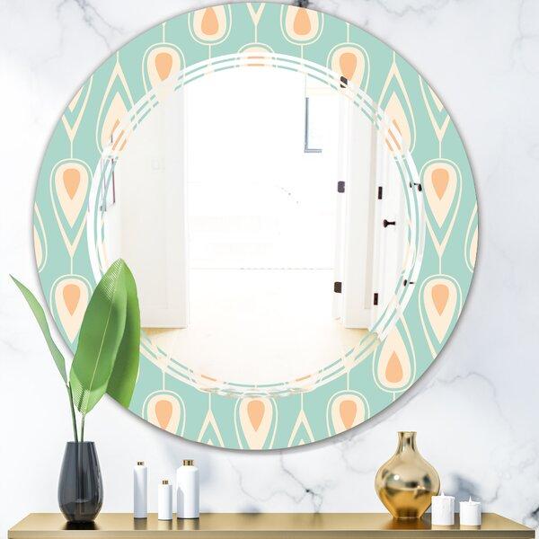 East Urban Home Triple C Ornamental Design Viii Cottage Americana Frameless Wall Mirror Wayfair Ca