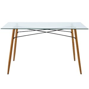 minimalista glass dining table