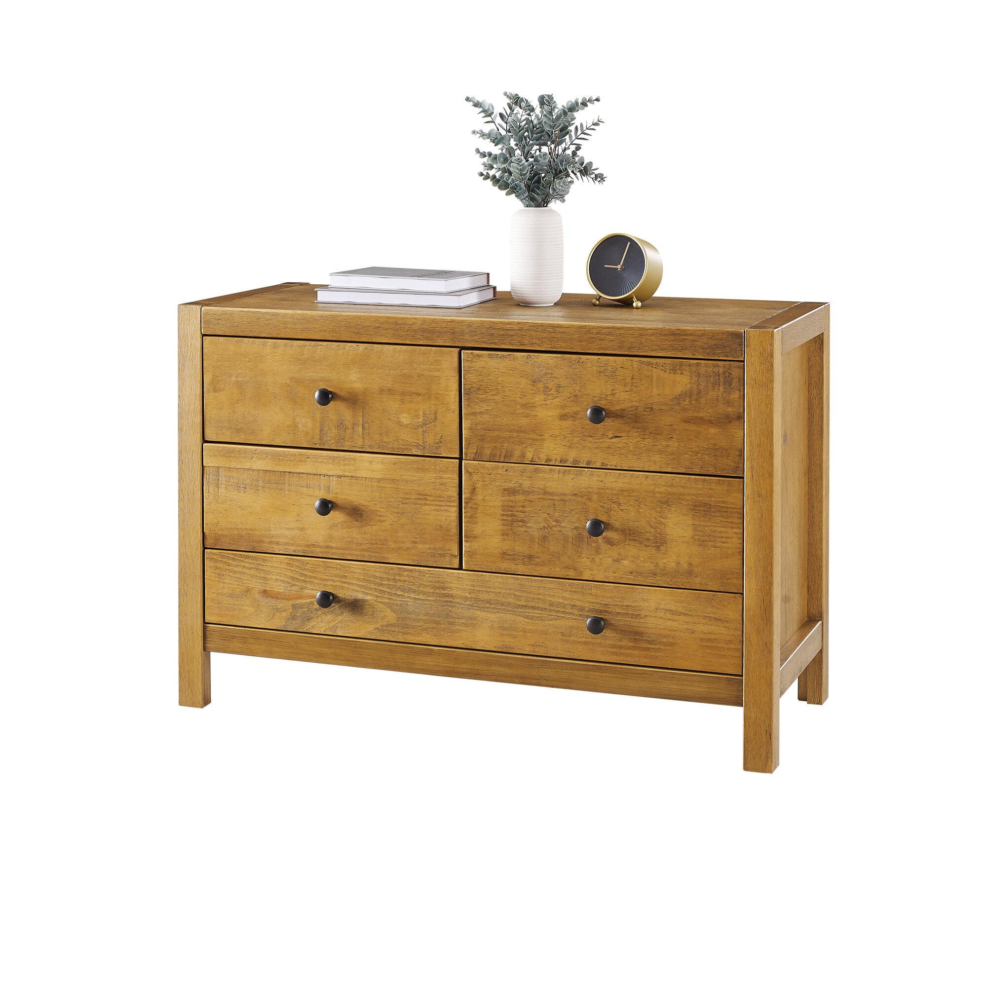 Foundry Select Villacorta 5 Drawer Double Dresser Wayfair