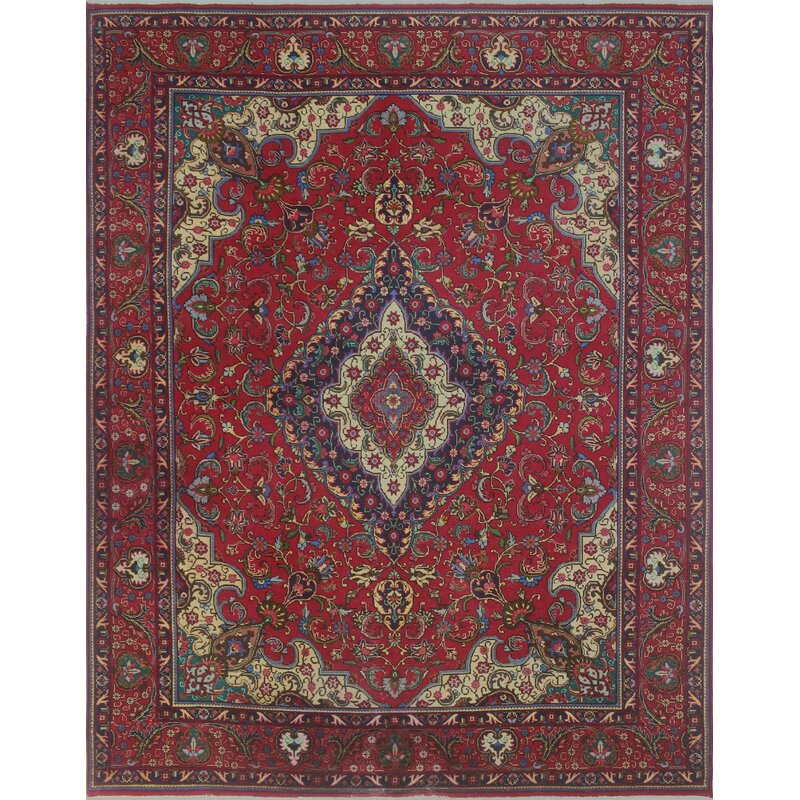 b02b5d9665 Bloomsbury Market One-of-a-Kind Brookview Vintage Distressed Hand Knotted  Wool Red Area Rug | Wayfair