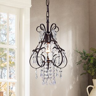 House of Hampton Charlie 1-Light Crystal Pendant