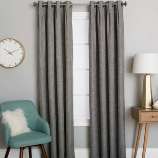 Mentzer Solid Room Darkening Grommet Single Curtain Panel by Winston Porter