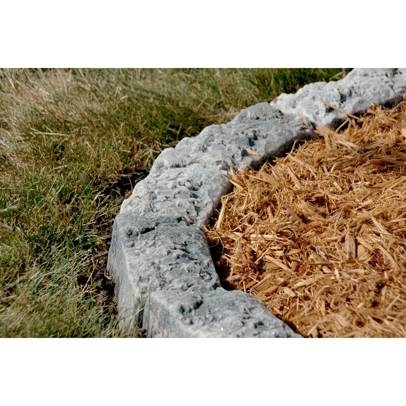 4 in  H x 10 in  W Artificial Stone Block Edging
