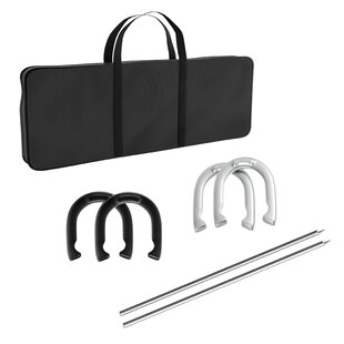 Trademark Games Professional Heavy Duty 7 Piece Horseshoe Game Set