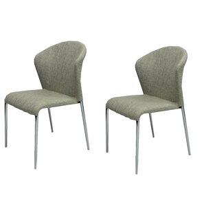 Banker Upholstered Dining Chair (Set of 2) Ivy Bronx