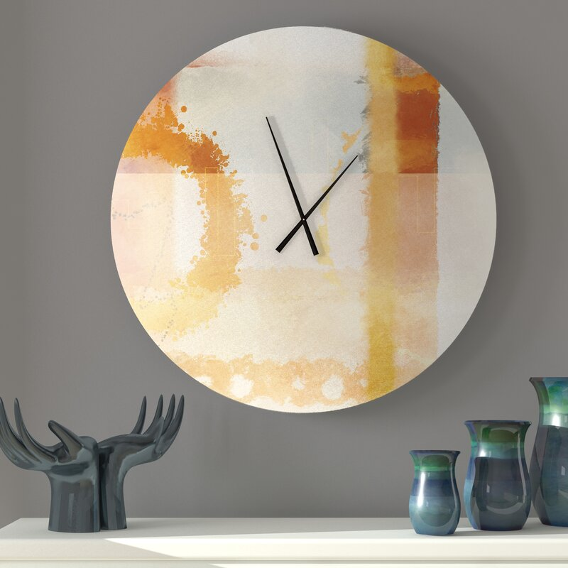 Ebern Designs Lenien Enamored Abstract Wall Clock Wayfair