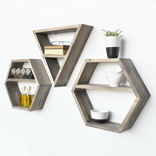 Nyah 3 Piece Floating Shelf Set By Union Rustic