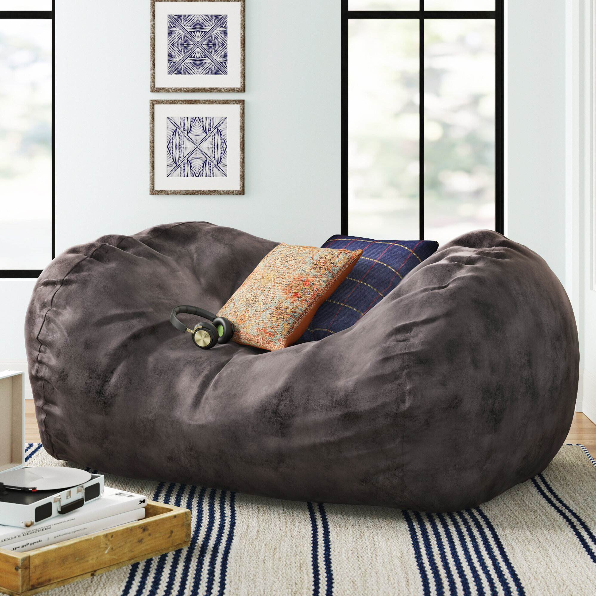 Three Posts Large Bean Bag Sofa