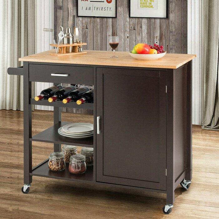 Gracie Oaks Yemina Kitchen Cart