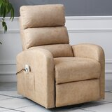 One Faux Leather Power Lift Assist Recliner with Massage and Heating by Latitude Run®