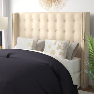 Doleman Traditional Upholstered Wingback Headboard