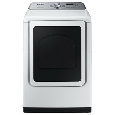 7.4 cu. ft. High Efficiency Gas Dryer with Steam Sanitize+ Samsung Color: White