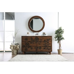 Alayah 7 Drawer Double Dresser with Mirror