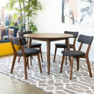 Brooten 5 Piece Solid Wood Dining Set