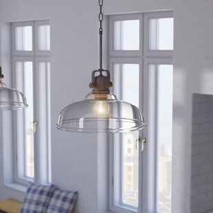 Fuhrmann Inverted 1-Light Dome Pendant by Three Posts