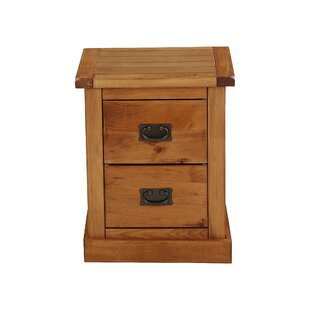 2 Drawer Bedside Table By Natur Pur