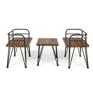Hansell Outdoor Industrial 3 Piece Seating Group