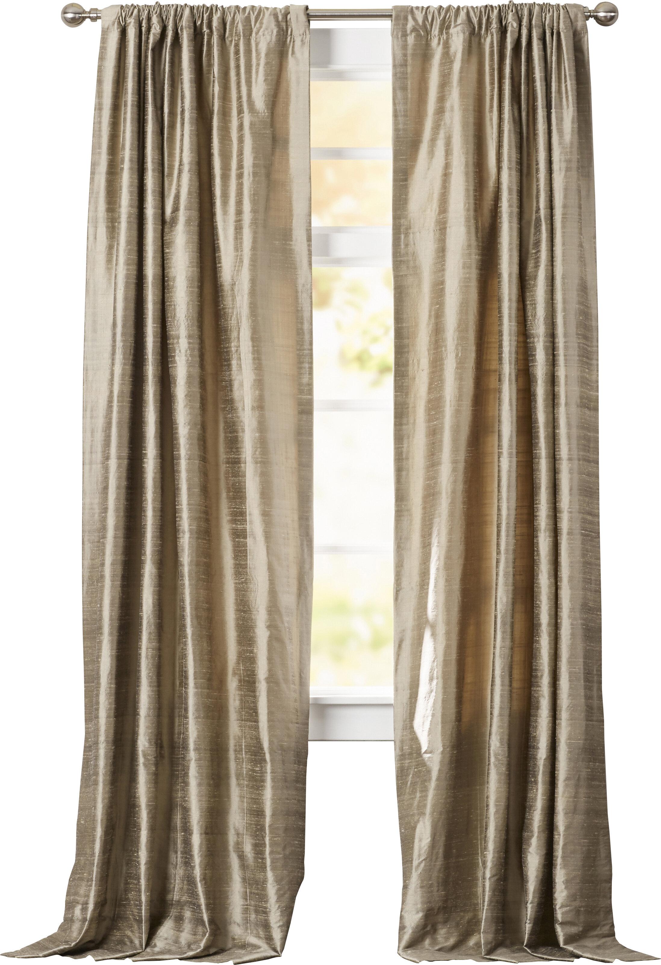 Silk Room Darkening Thermal Rod Pocket Single Curtain Panel Reviews Birch Lane