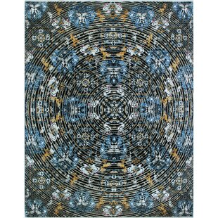 Comparison One-of-a-Kind Alvey Hand-Knotted Black/White Area Rug By Isabelline