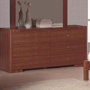 Mercury Row Hibbler 6 Drawer Double Dresser