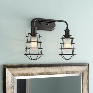 Deals Deadra 2-Light Vanity Light ByWilliston Forge