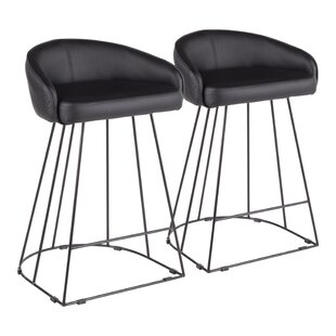 Lystra 26 Swivel Bar Stool (Set of 2) Everly Quinn