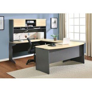 Red Barrel Studio Cassy U-Shape Corner Desk with Hutch