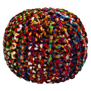 World Menagerie Sandford Brilliant Ribbon Rope Pouf