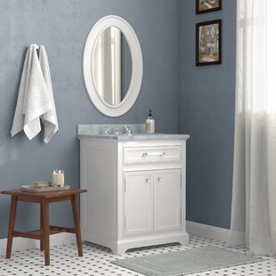 Great choice Bergin 24 W Single Sink Bathroom Vanity Set with Mirror and Faucet By Three Posts