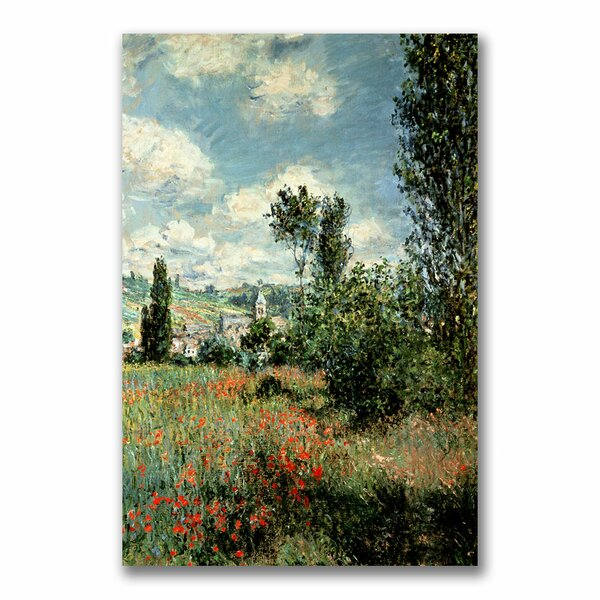 Vault W Artwork Path Through The Poppies By Claude Monet Painting Print On Wrapped Canvas Reviews Wayfair