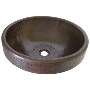 Affordable Granada Copper Metal Circular Drop-In Bathroom Sink By Novatto