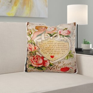 Minter Vintage My Valentine Cupid Pillow Cover