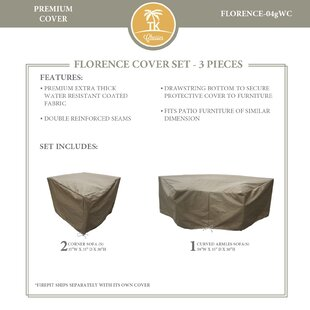 TK Classics Florence 3 Piece Sofa Cover Set