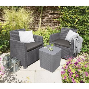 Venetta 3 Piece Conversation Set with Cushions