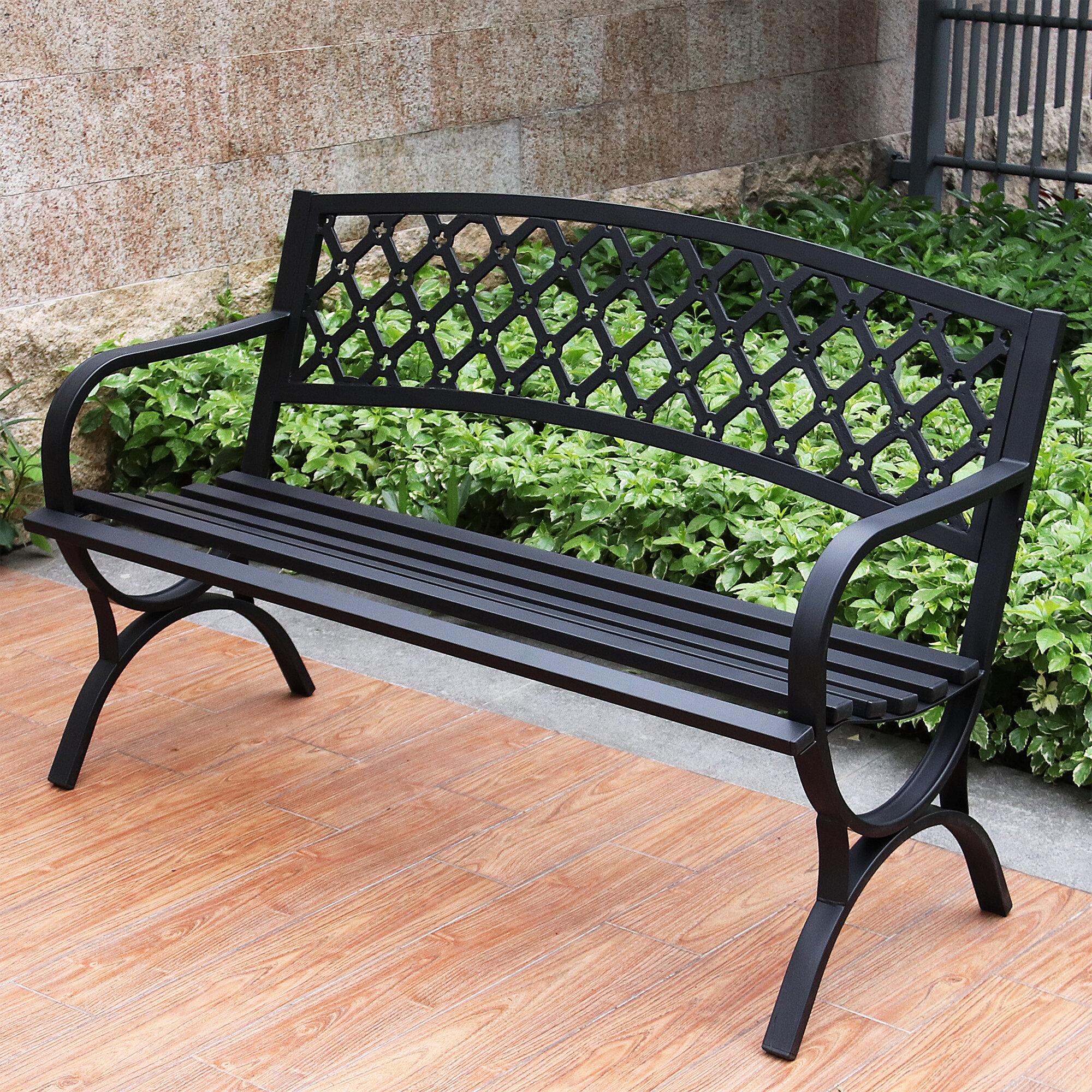 Enjoyable Verwood Steel Garden Bench Machost Co Dining Chair Design Ideas Machostcouk