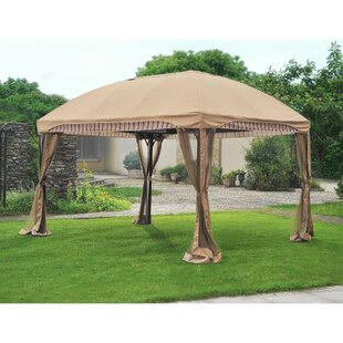 Carlota 10 Ft. W x 13 Ft. D Metal Patio Gazebo by Sunjoy