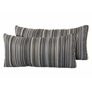 Silvers Stripe Rectangle Outdoor Lumbar Pillow (Set of 2)