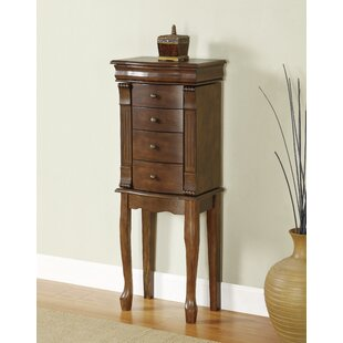 Alcott Hill Barrett Jewelry Armoire with Mirror