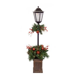 sinead pine potted 48 lamp post by the holiday aisle - Christmas Lamp Post Decoration