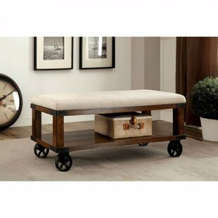 Gracie Oaks Aarons Industrial Upholstered Entryway Bench