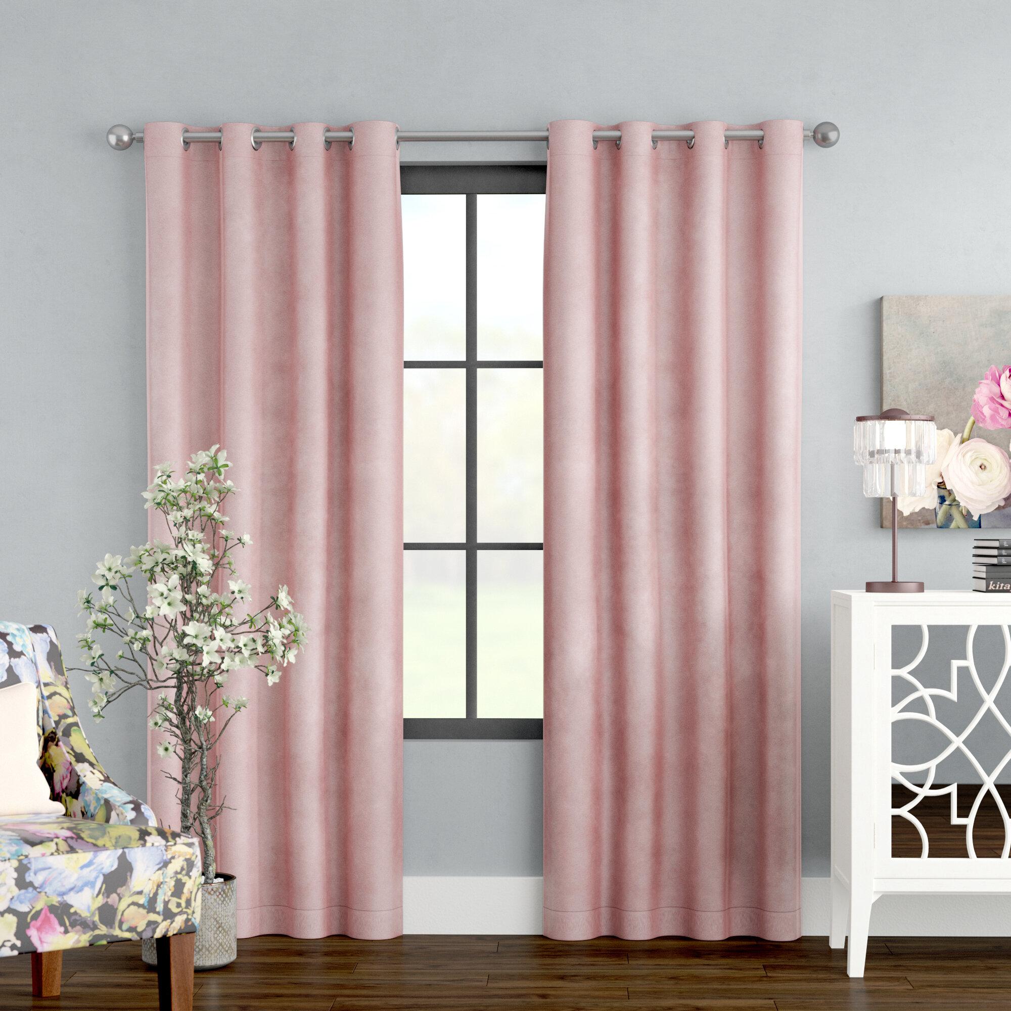 Pink Velvet Curtains Drapes You Ll Love In 2021 Wayfair