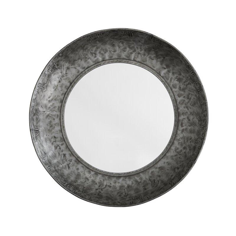 Williston Forge Magnuson Metal Industrial Beveled Distressed Accent Mirror Wayfair