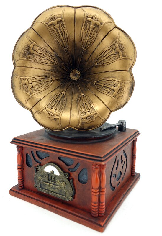 antique gramophone replica piggy bank