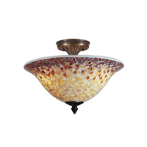 Cassidy Mosaic 3-Light Flush Mount