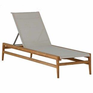 Coast Reclining Teak Chaise Lounge