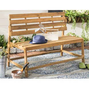Gere Balcony Wooden Convertible Bench by Highland Dunes
